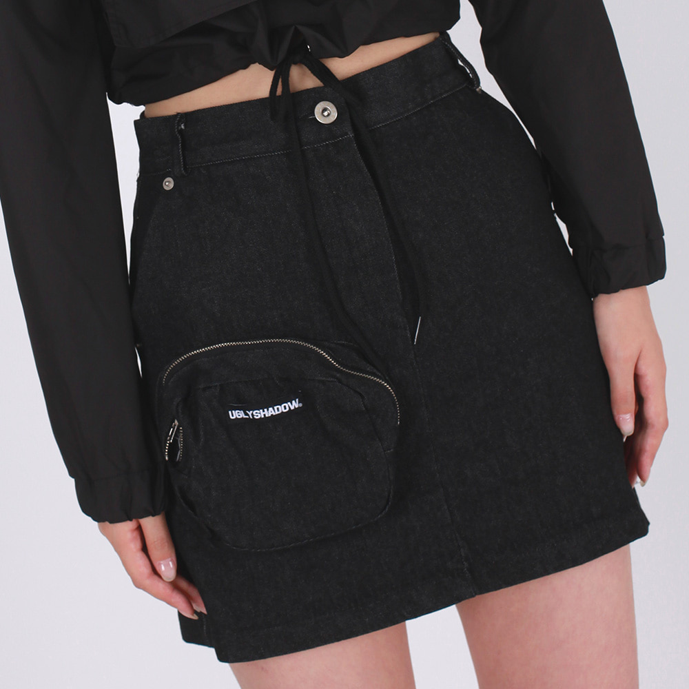 [STYLE OF THE WEEK +5%OFF]POCKET SKIRT(BLACK)