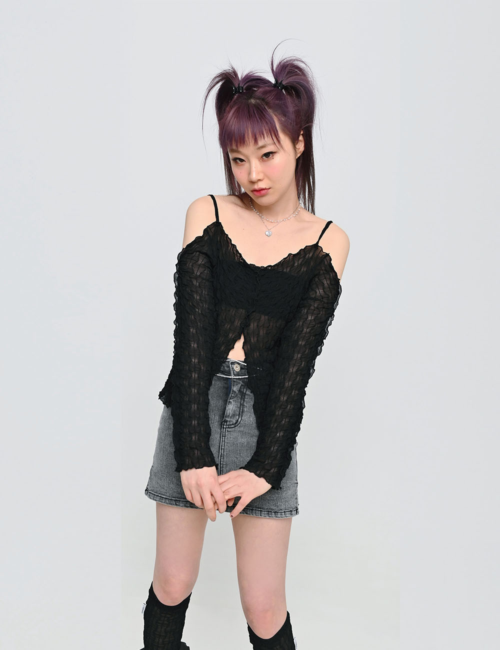 RIMPLE OFF SHOULDER(BLACK)