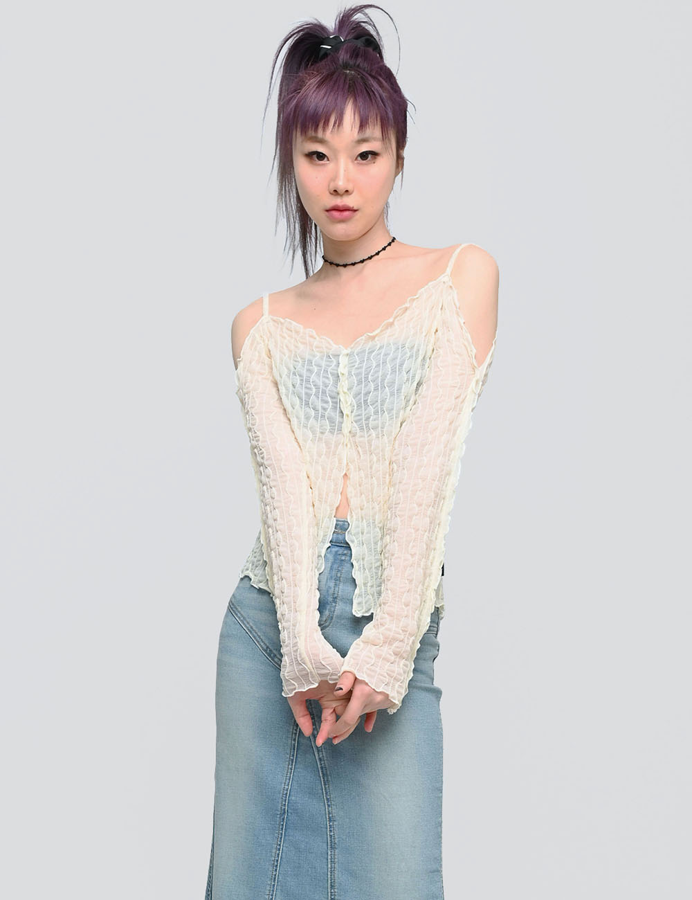RIMPLE OFF SHOULDER(IVORY)