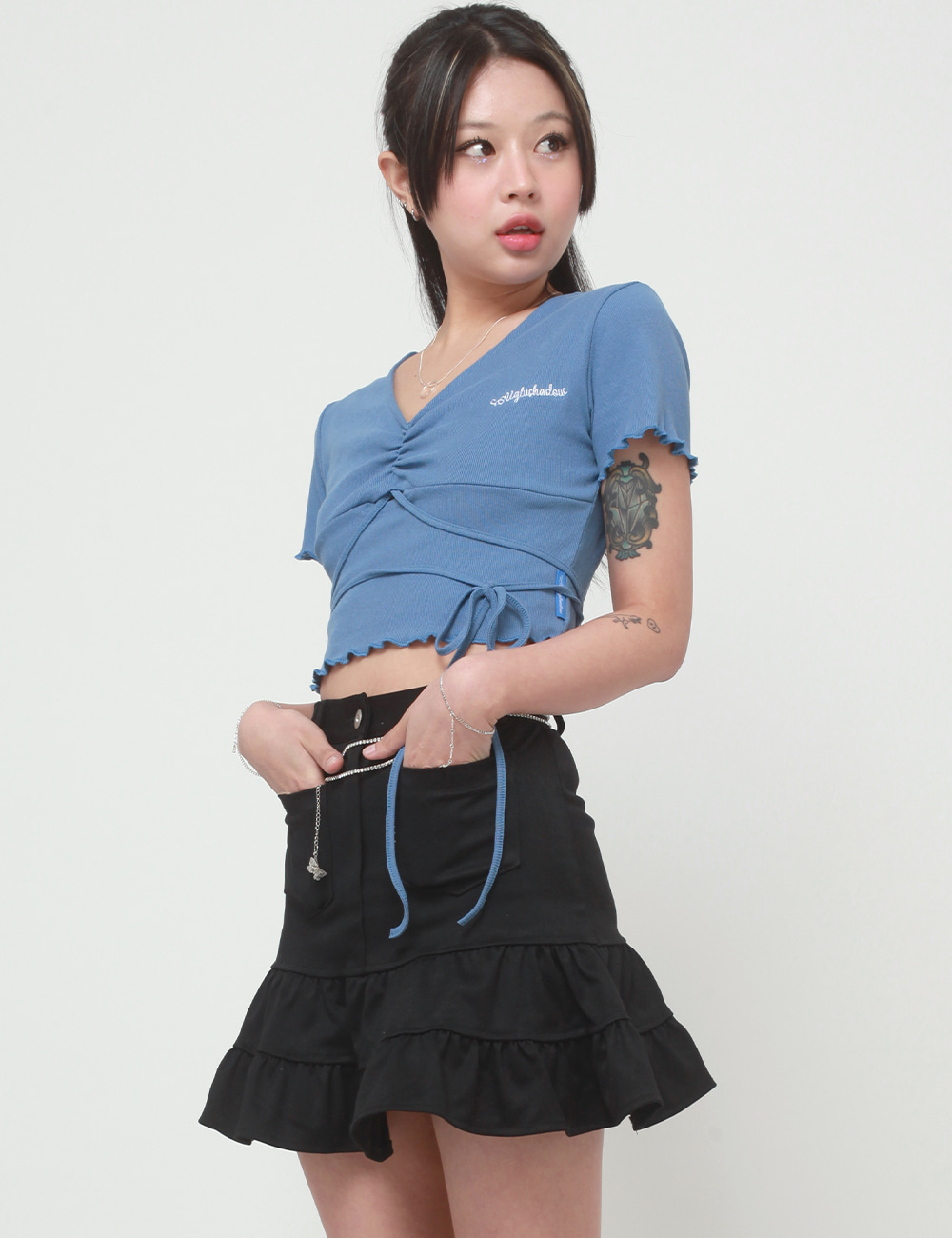 💕[ LAST STOCK 교환 및 환불 불가상품 ]RETRO SKIRT VERSION 2(BLACK)