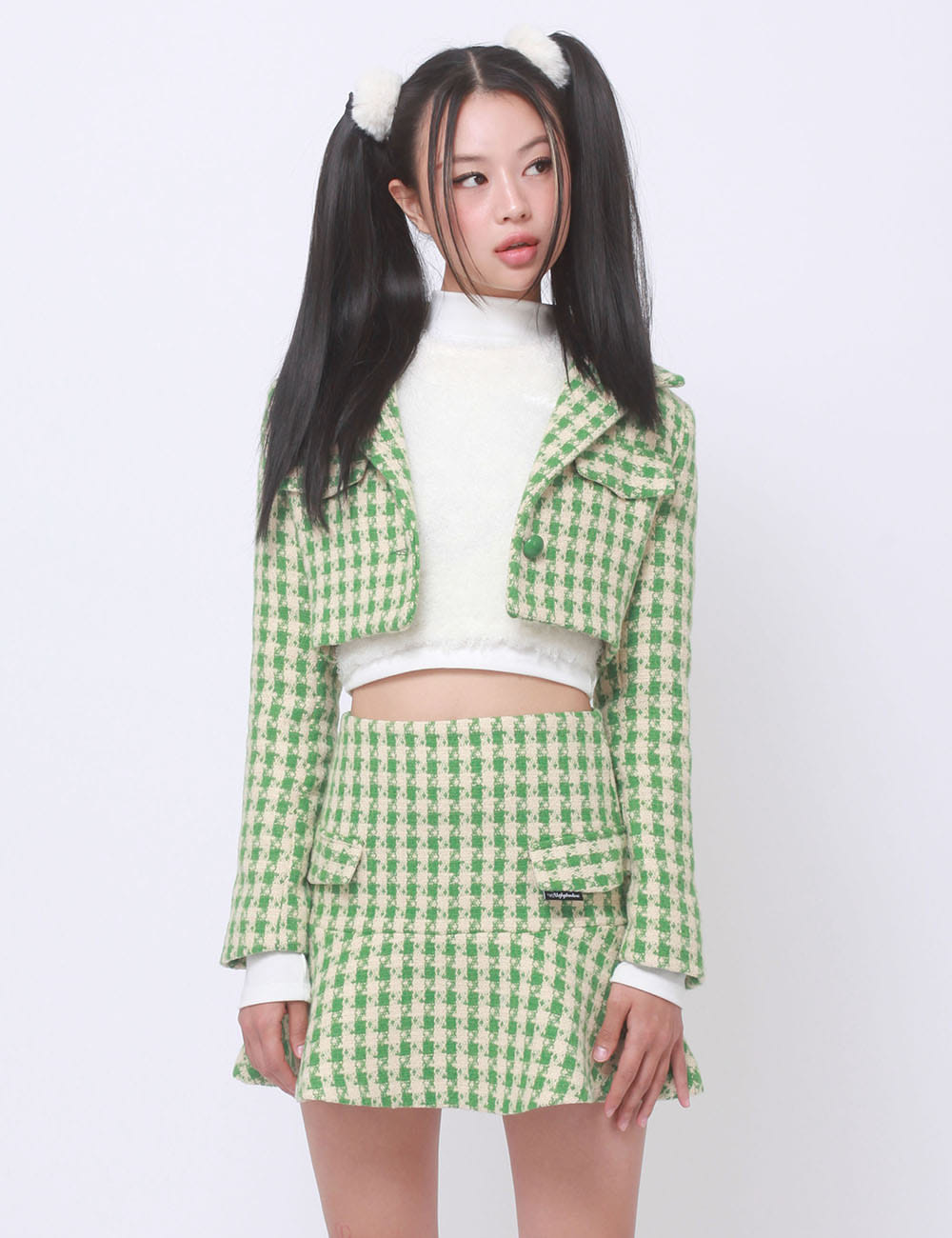 HOUNDUS SKIRT(GREEN) 2차 재입고