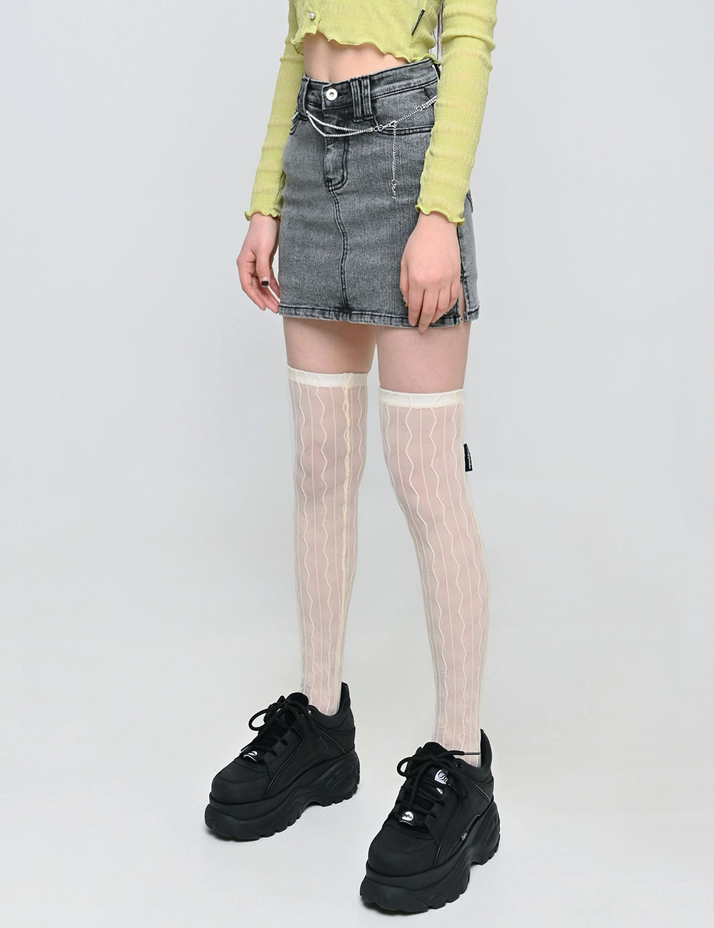 RIMPLE KNEE SOCKS(IVORY) 3차 재입고