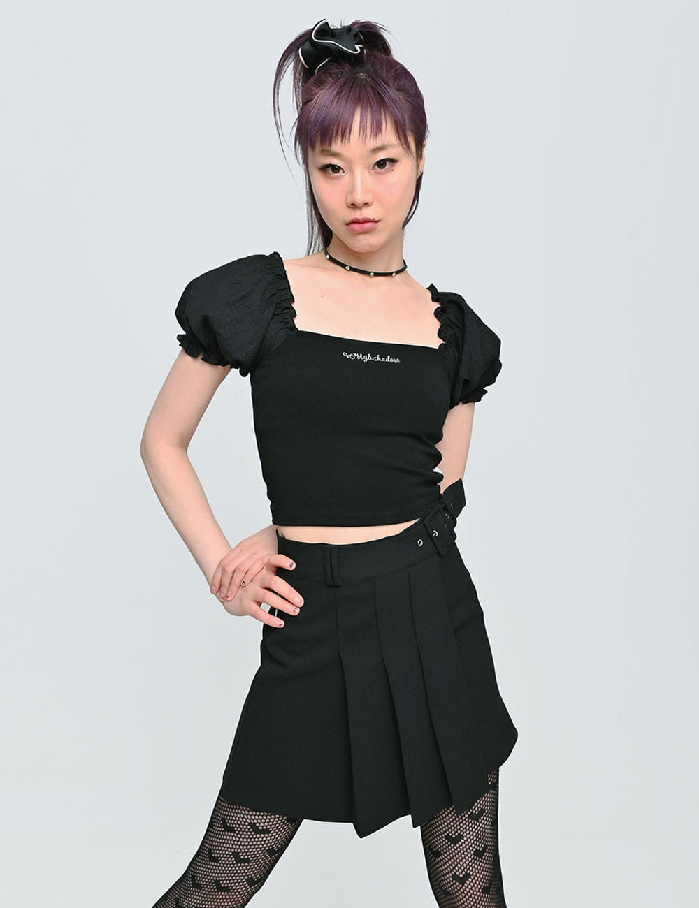 PUFF CROP TOP(BLACK)